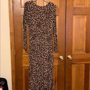 H&M Leopard Print Maxi Dress NWT size 12